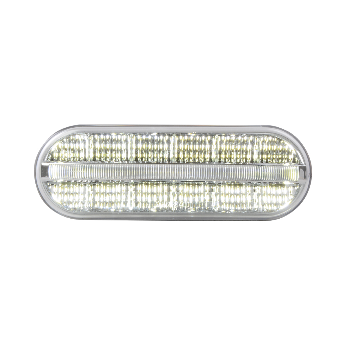74854 Oval Prime Spyder LED Light in White/Clear