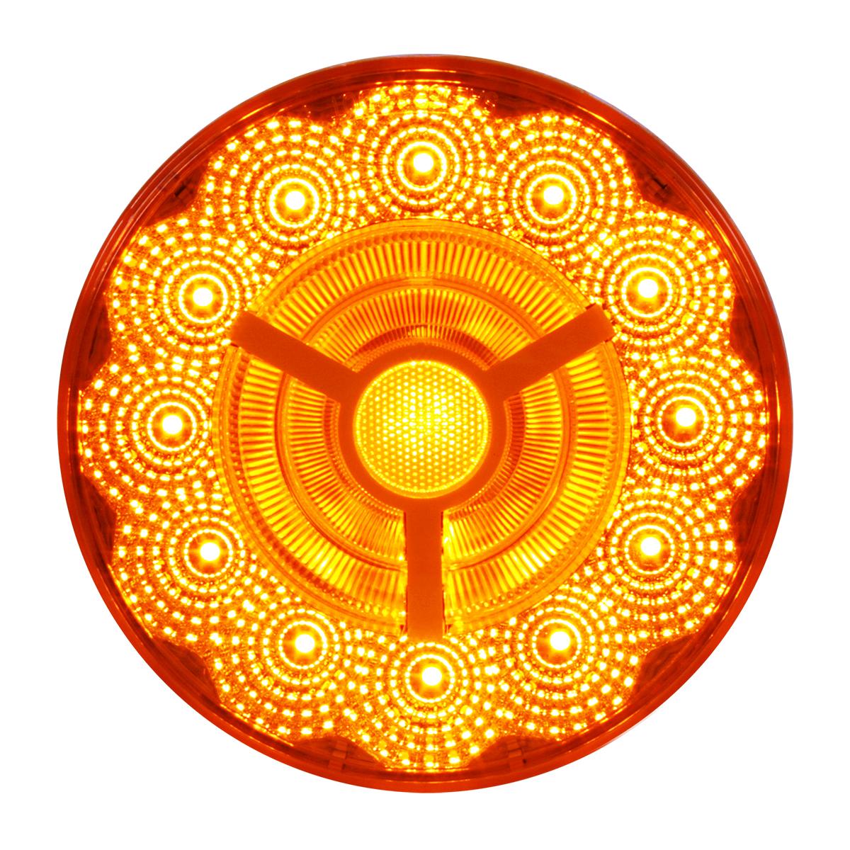 """74870 4"""" Prime Spyder LED Light in Amber/Amber"""