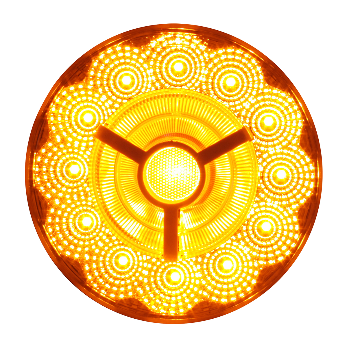 "74871 4"" Prime Spyder LED Light in Amber/Clear"