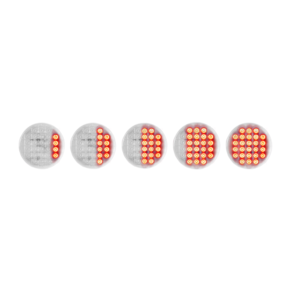 "74893 Sequential 4"" Smart Dynamic LED Light in Red/Clear"