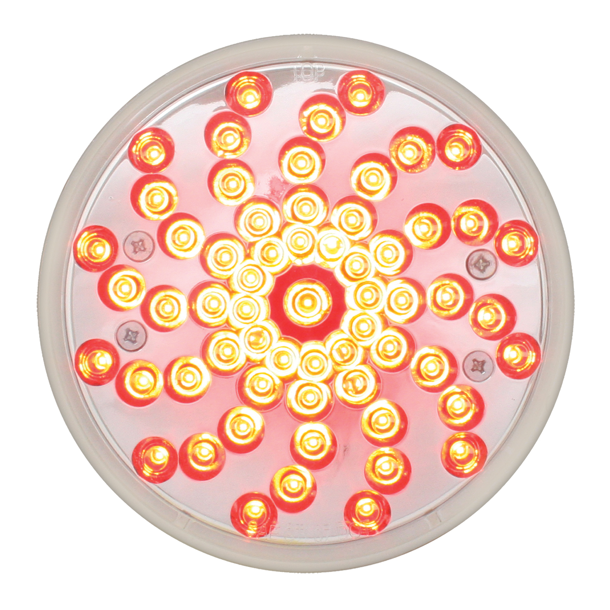 "76723 4"" Twister LED Light in Red/Clear"
