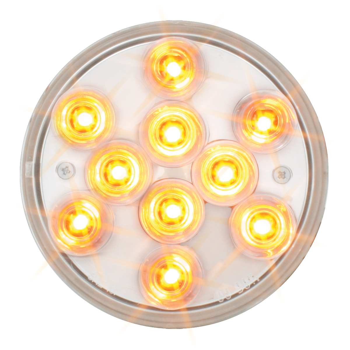 "76841 4"" Mega 10 Plus LED Light in Amber/Clear"