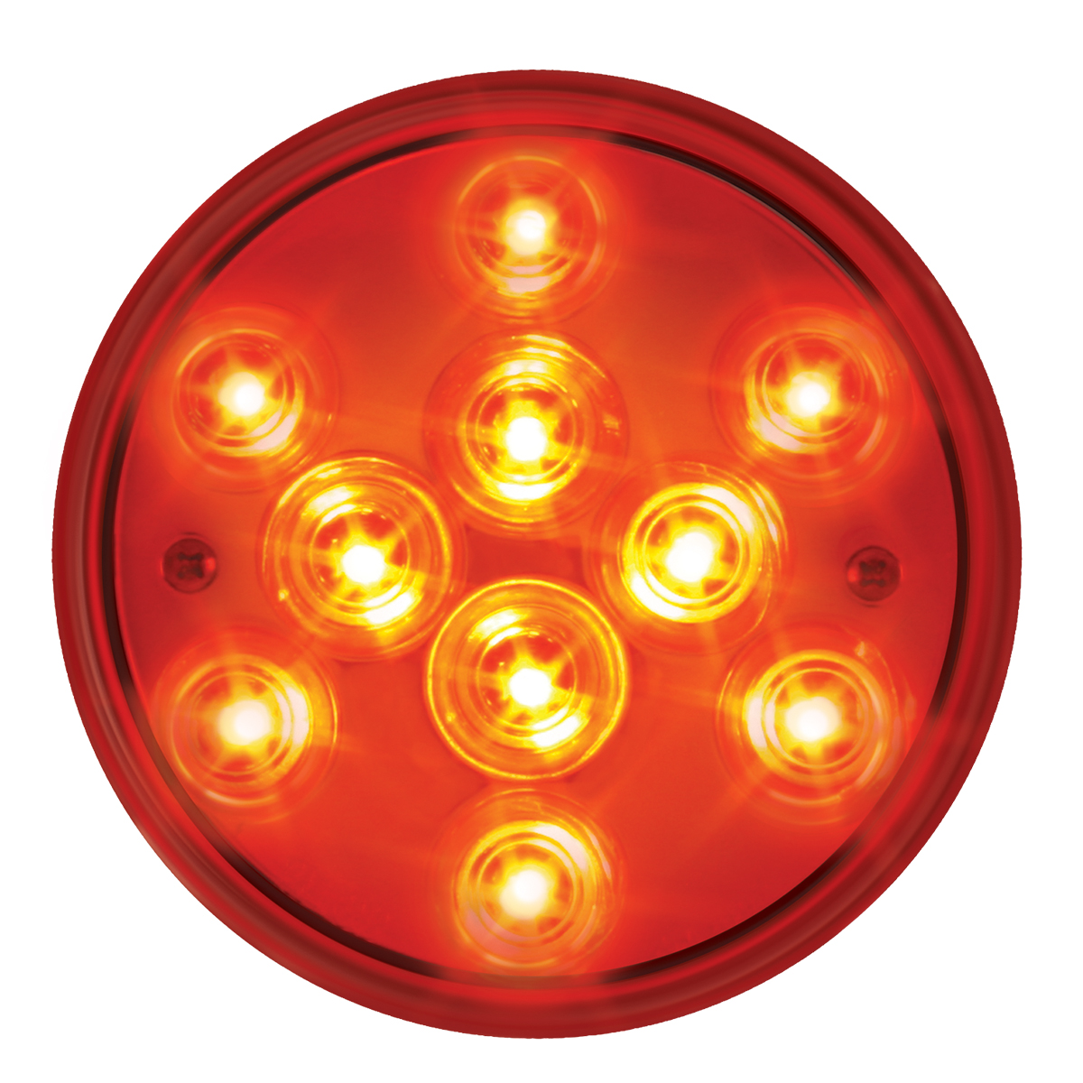 "76842 4"" Mega 10 Plus LED Light in Red/Red"