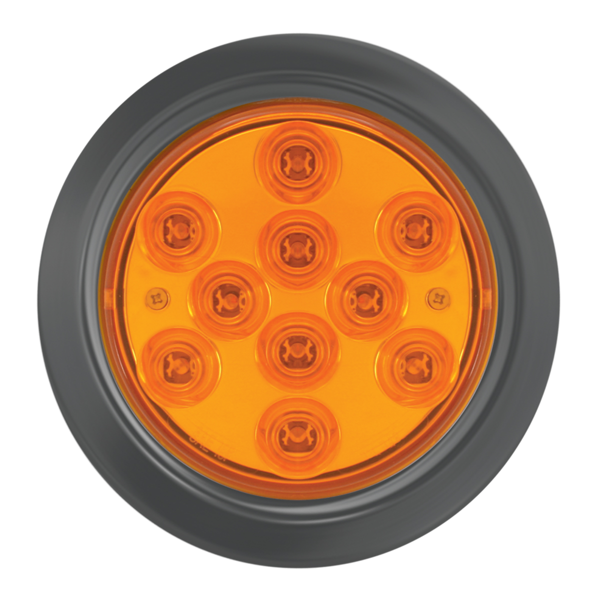 "76844 4"" Mega 10 Plus LED Light w/ Black Rubber Grommet"