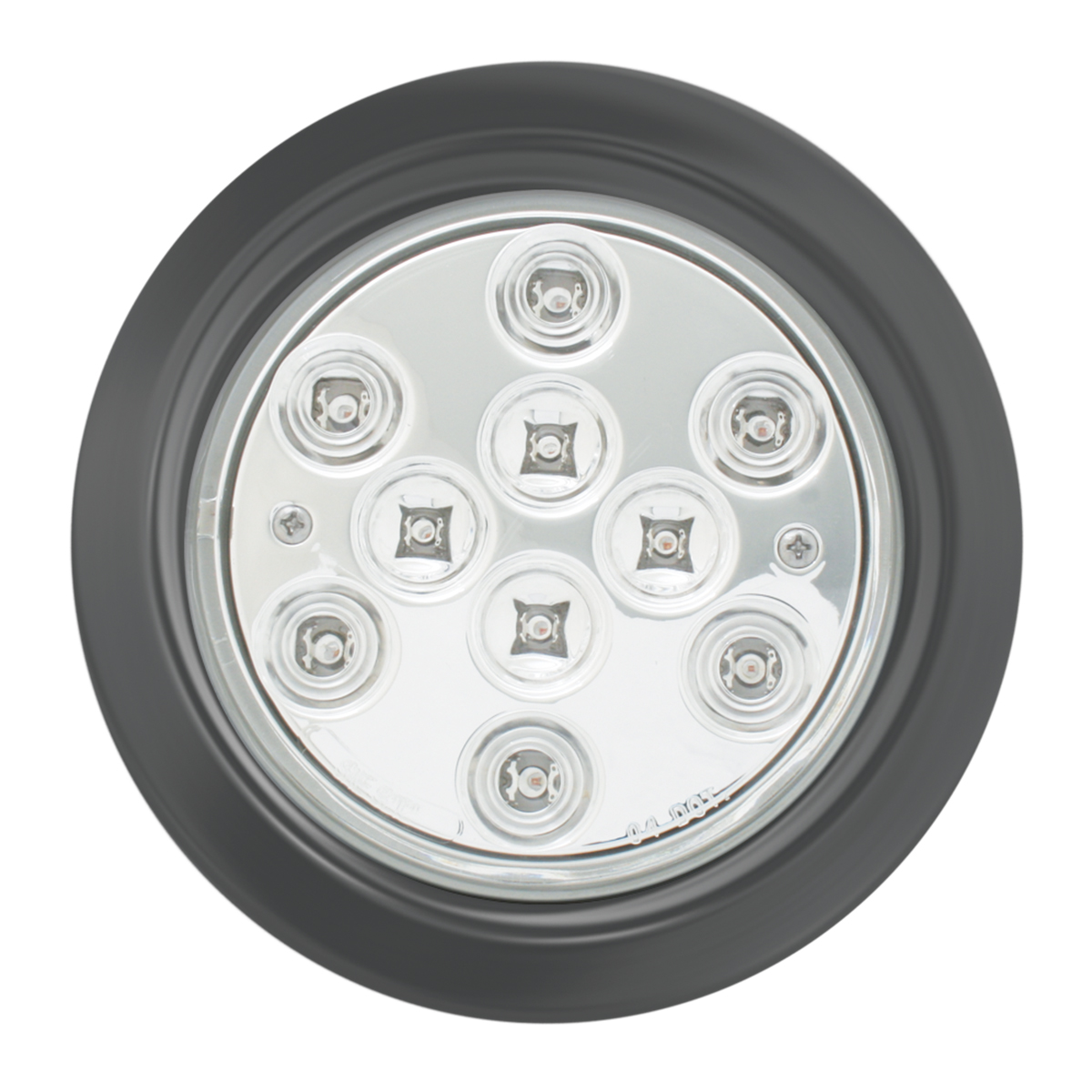 "4"" Mega 10 Plus LED Light w/ Black Rubber Grommet"