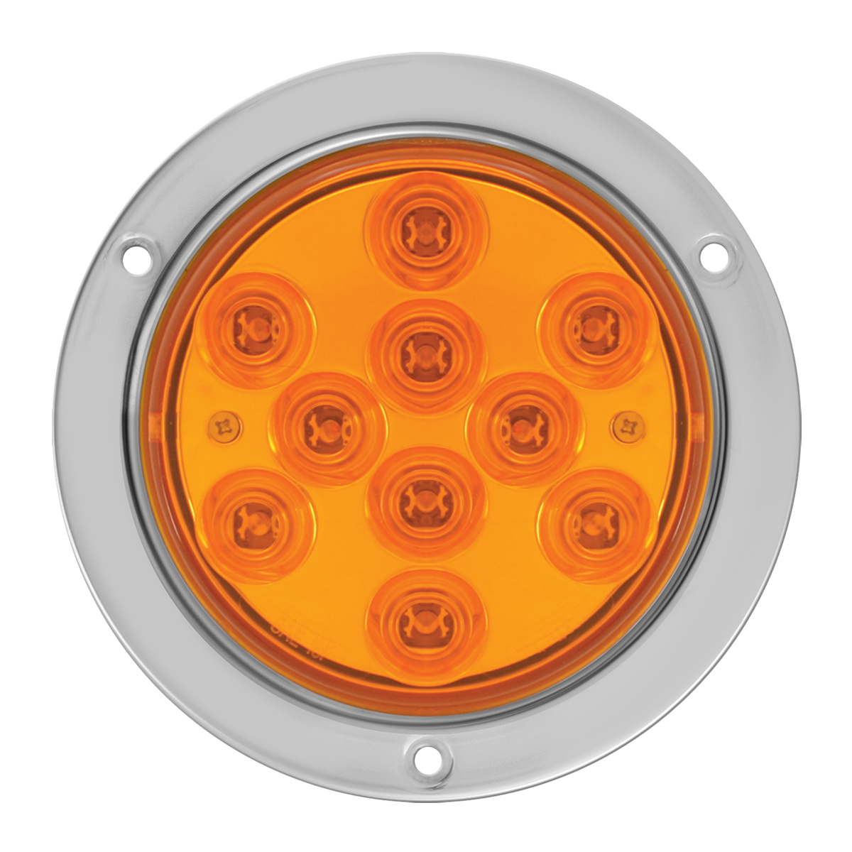 "76850 4"" Mega 10 Plus LED Light w/ Stainless Steel Bezel"