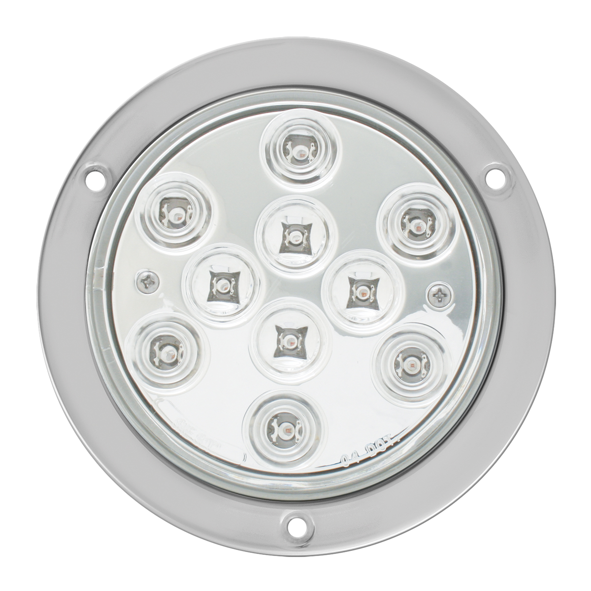 "4"" Mega 10 Plus LED Light w/ Stainless Steel Bezel"