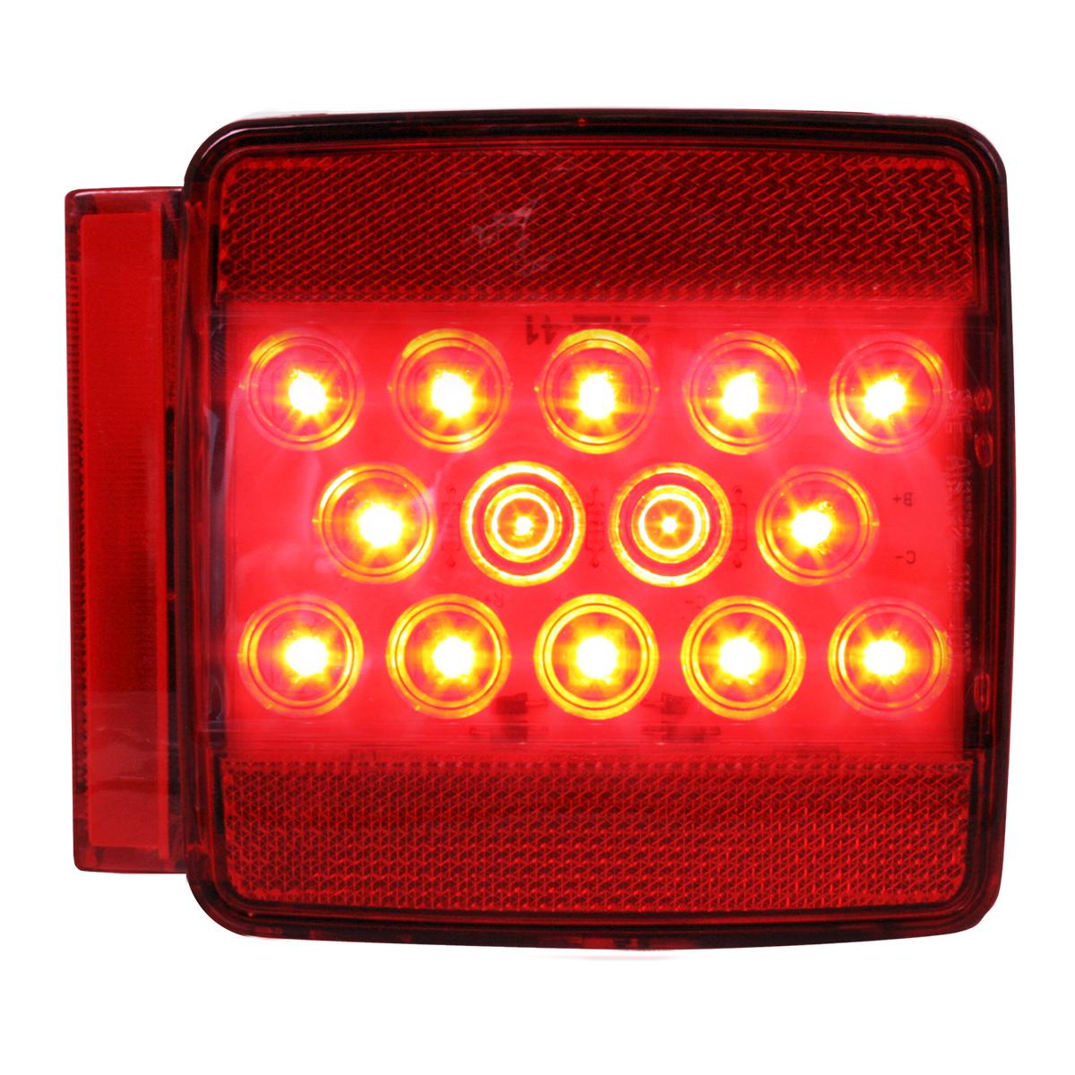 76941 Universal Stud-Mount Trailer LED Light w/ License Light