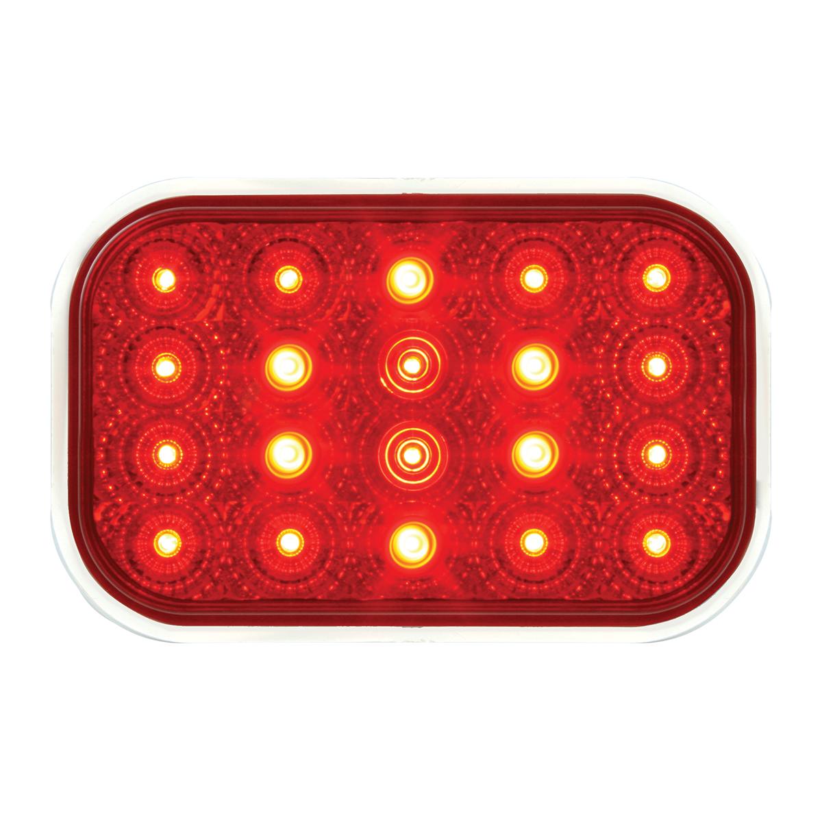 77013 Rectangular Spyder LED Light in Red/Red