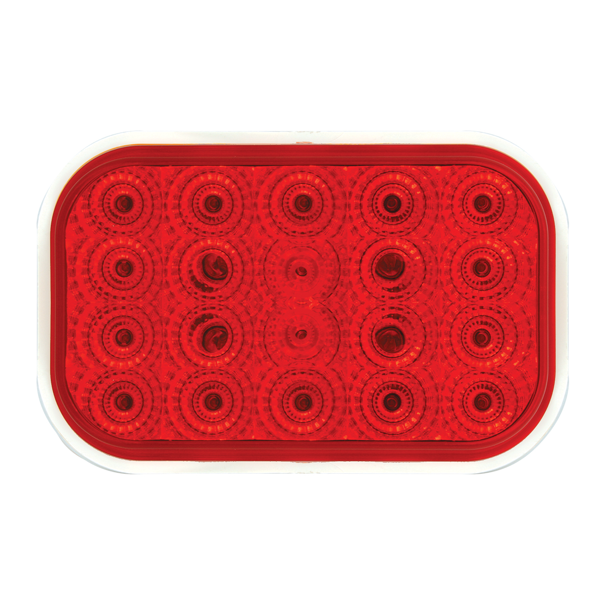 77013 Rectangular Spyder LED Light in Red/Red