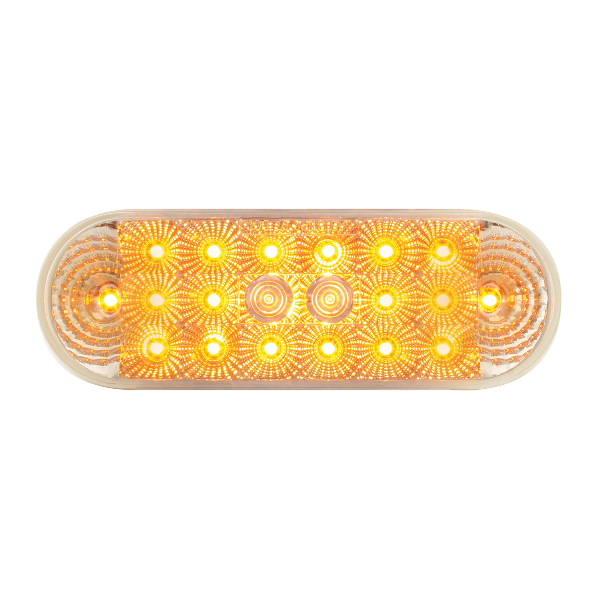 77051 Oval Spyder LED Light in Amber/Clear