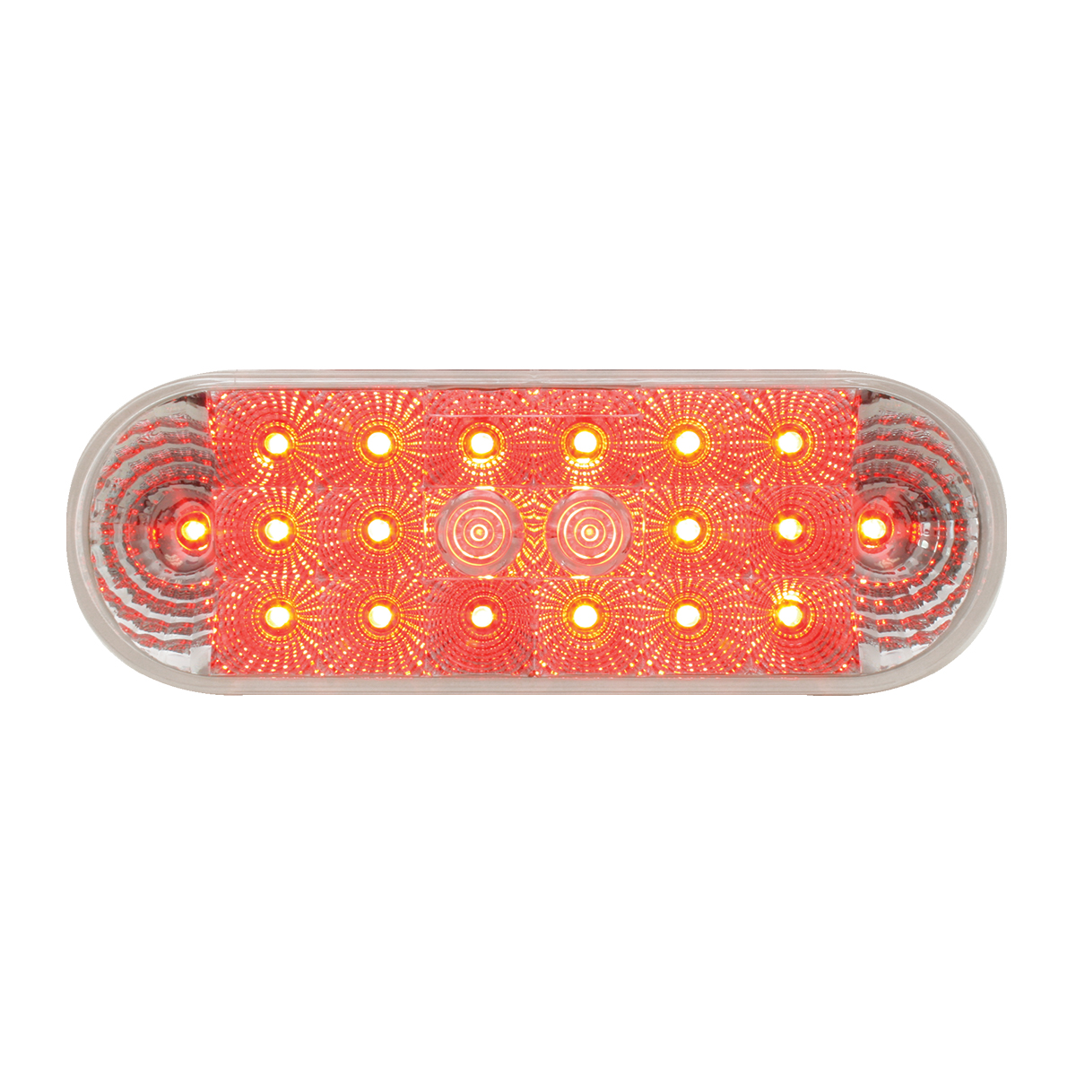 Grand General 77051 Amber Oval Low Profile Spyder 20-LED Sealed Park//Turn//Clearance Light