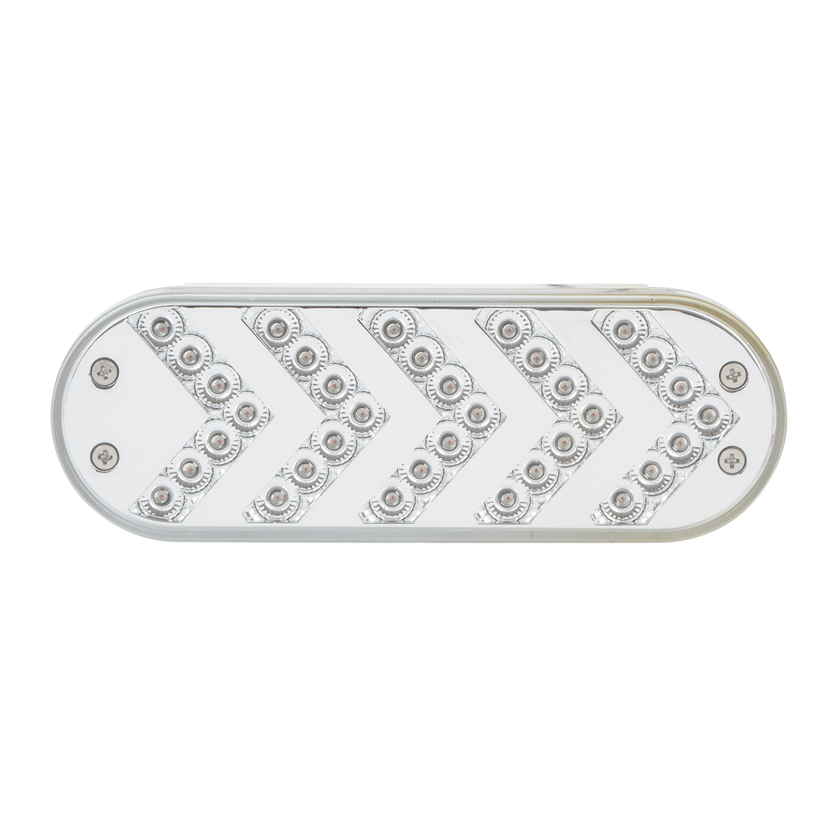 Oval Sequential Arrow Spyder LED Light in Clear Lens