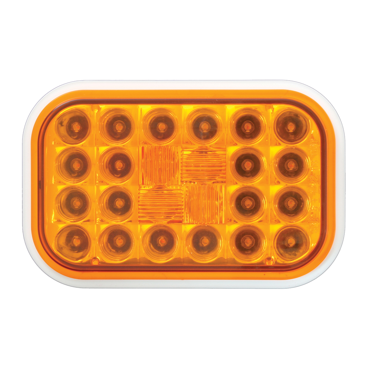 77180 Rectangular Pearl LED Light in Amber/Amber