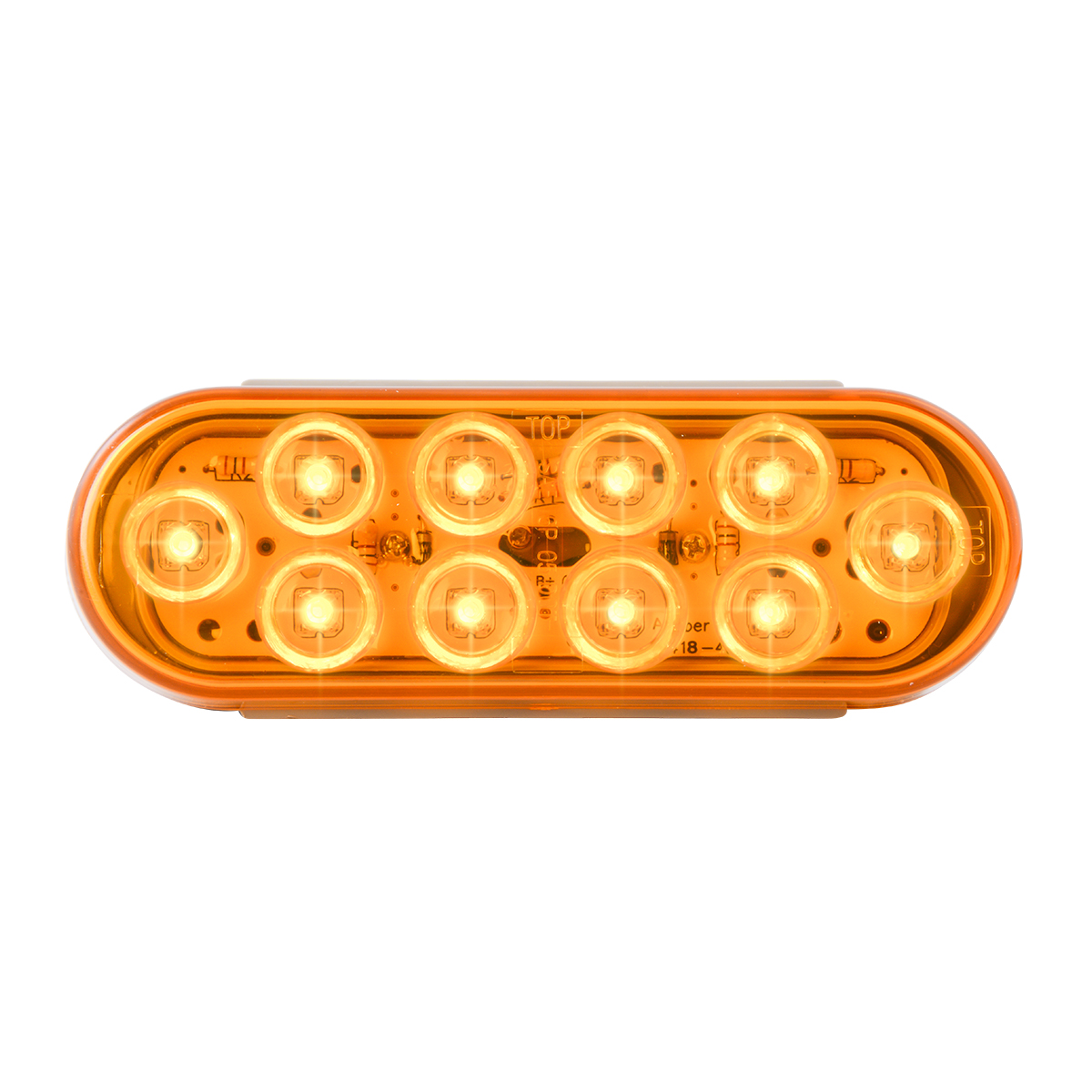 77440 Oval Mega 10 LED Light in Amber/Amber