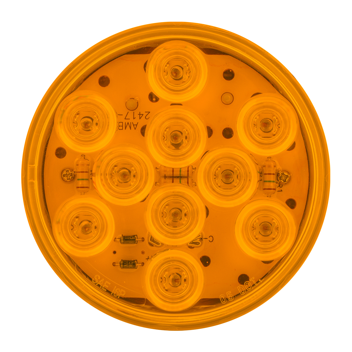 "77450 4"" Mega 10 LED Light in Amber/Amber"