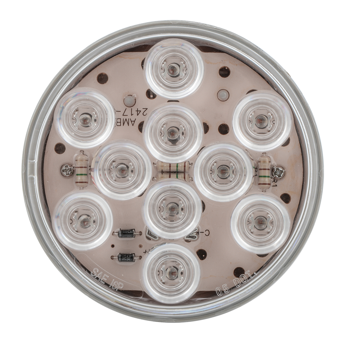"4"" Mega 10 LED Light in Clear Lens"