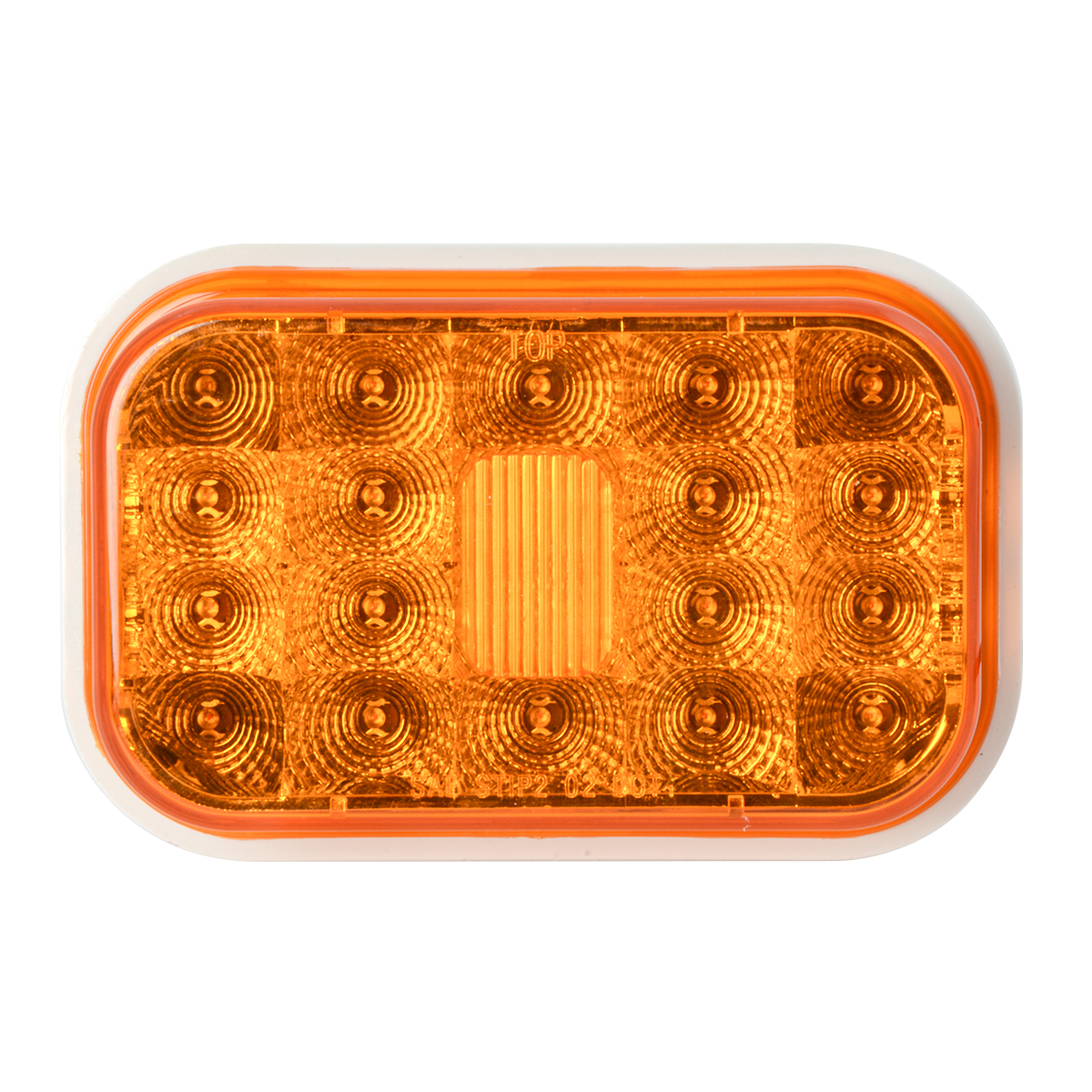 77460 High Profile Rectangular Spyder LED Light in Amber/Amber