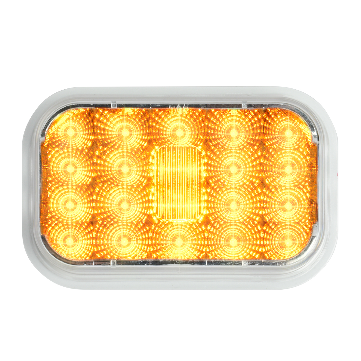 77461 High Profile Rectangular Spyder LED Light in Amber/Clear