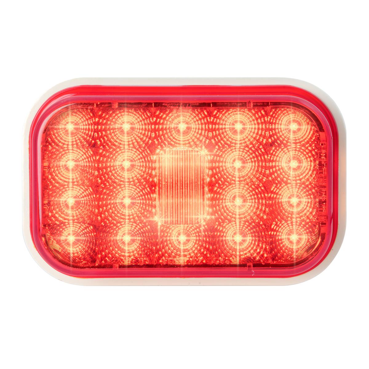 77463 High Profile Rectangular Spyder LED Light in Red/Red