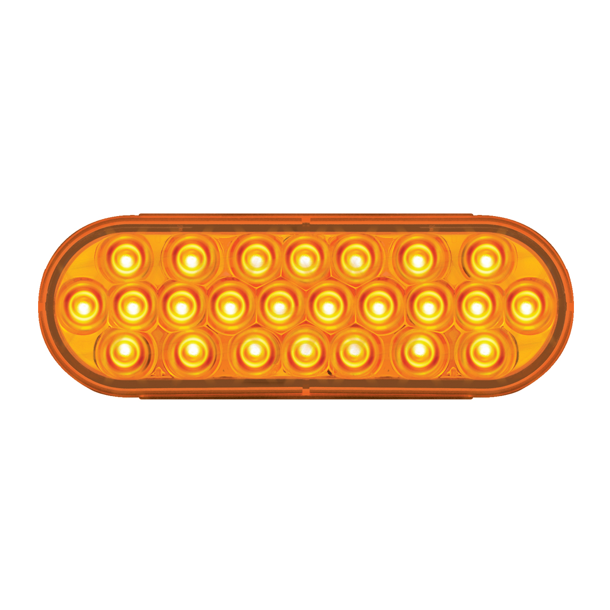 78230 Oval Pearl LED Light in Amber/Amber