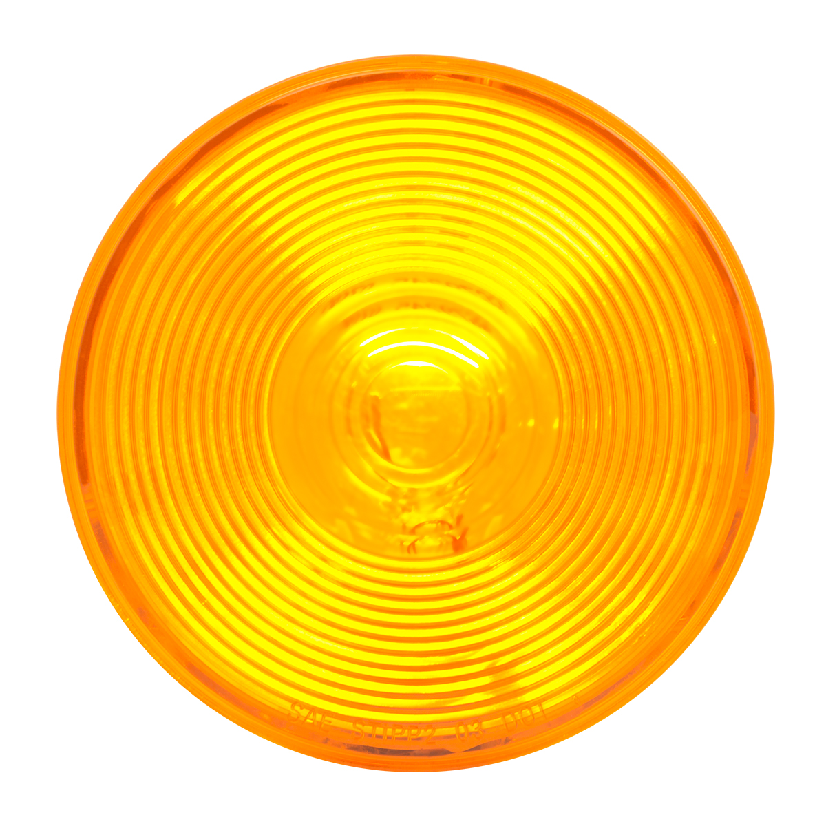"""#79245 4"""" Amber Park/Turn/Clearance Light with Clear Back Housing - Light Only"""