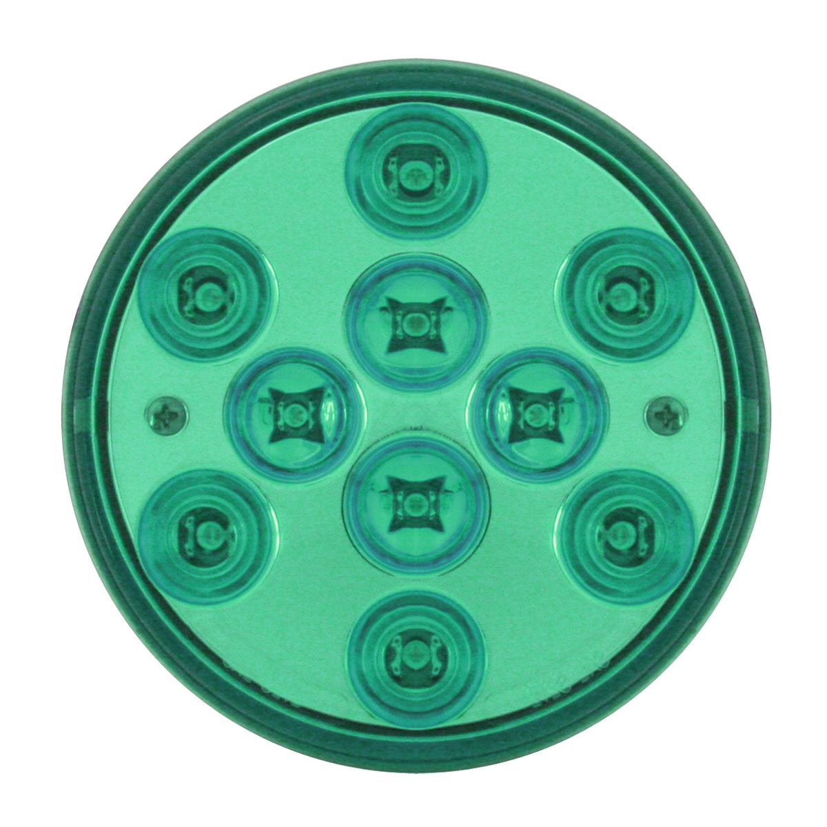 "82272 4"" Mega 10 Plus LED Light in Green/Green"