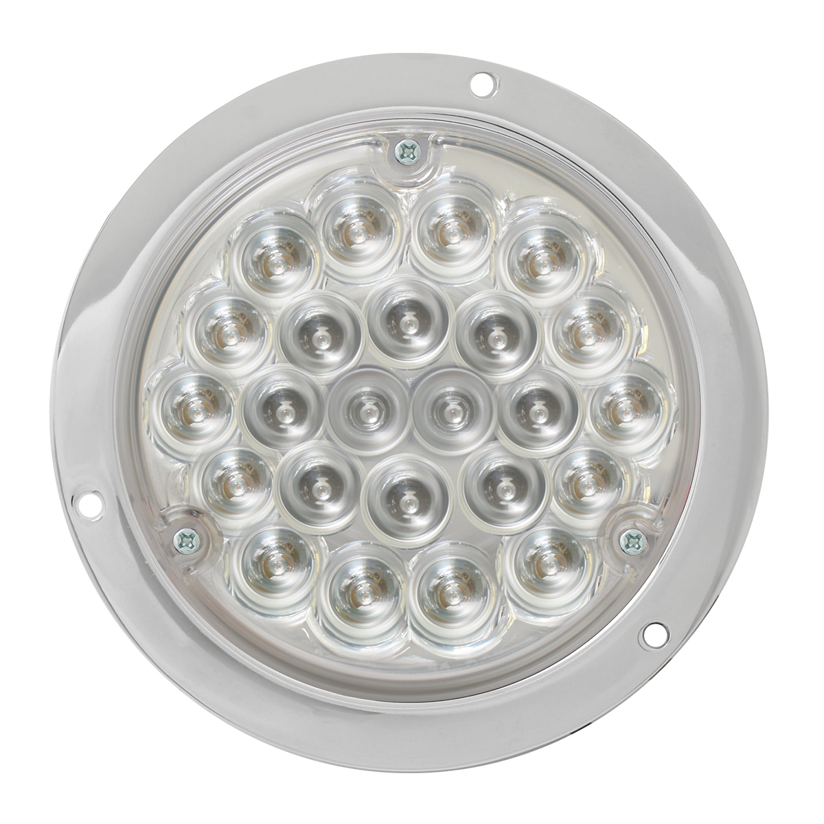 "4"" Pearl LED Light in Clear Lens w/ Chrome Housing"