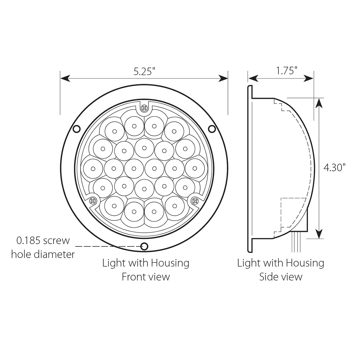 4 Pearl Led Light With Housing Grand General Auto Parts 1157 Socket Wiring Diagram For