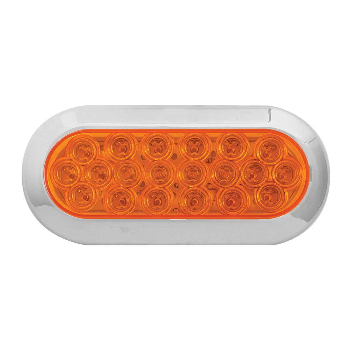 87724 Oval Fleet LED Light w/ Chrome Plastic Bezel
