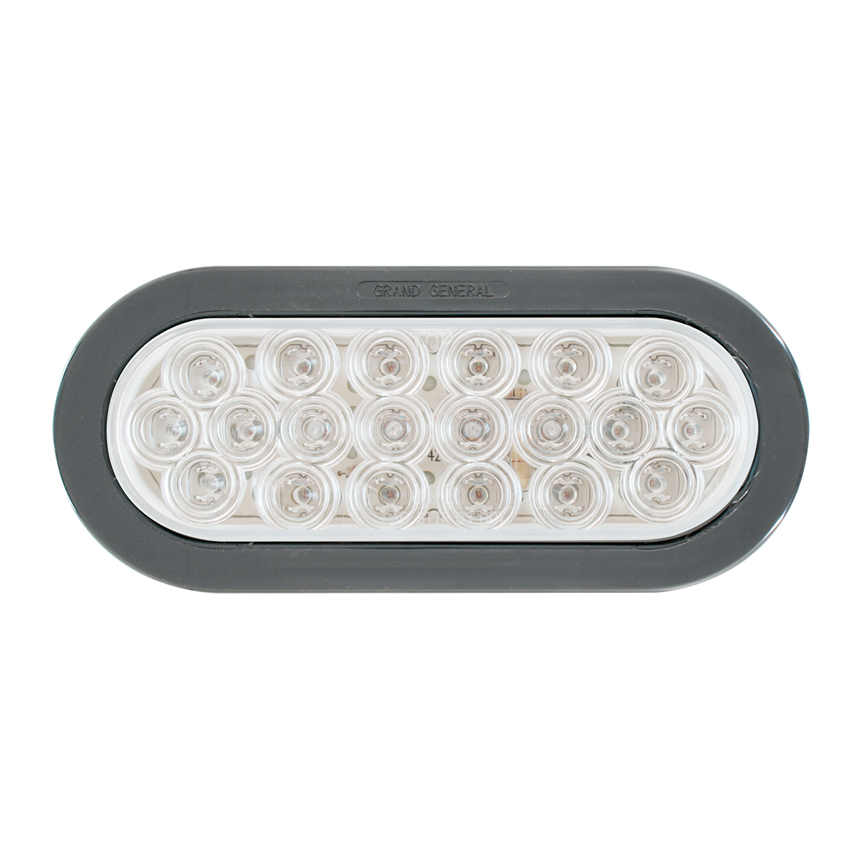 Oval Fleet LED Light w/ Black Rubber Grommet