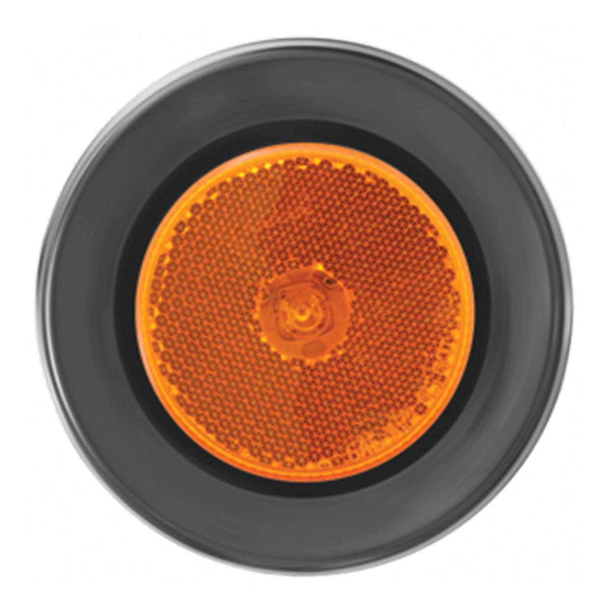 """76425 2.5"""" Single LED Marker Light with Black Rubber Grommet"""