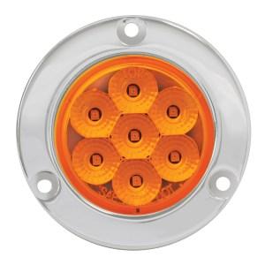 Spyder LED Marker Light with Stainless Steel/Chrome Plastic Bezel