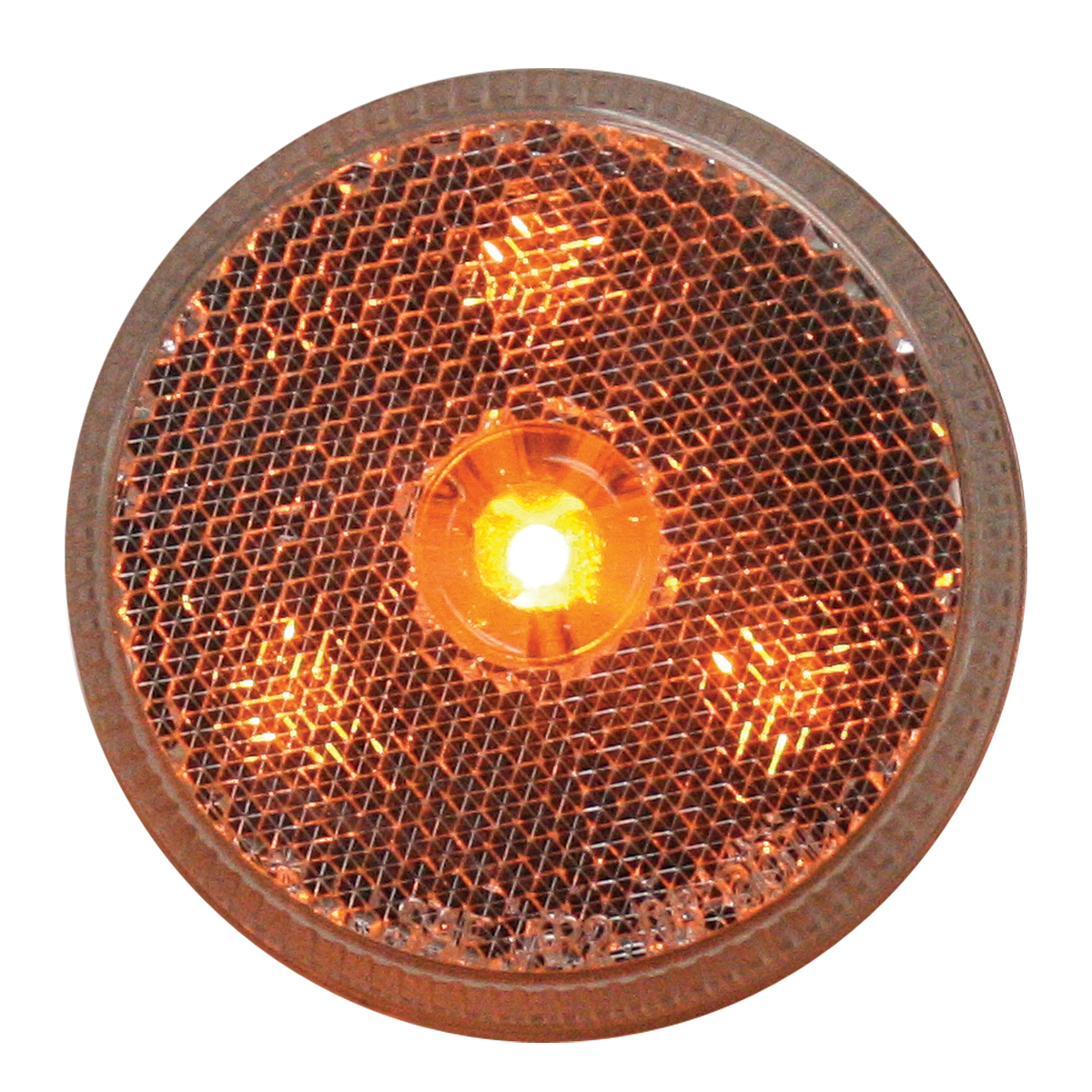 "76971 2.5"" Reflector Style LED Maker Light in Amber/Clear"