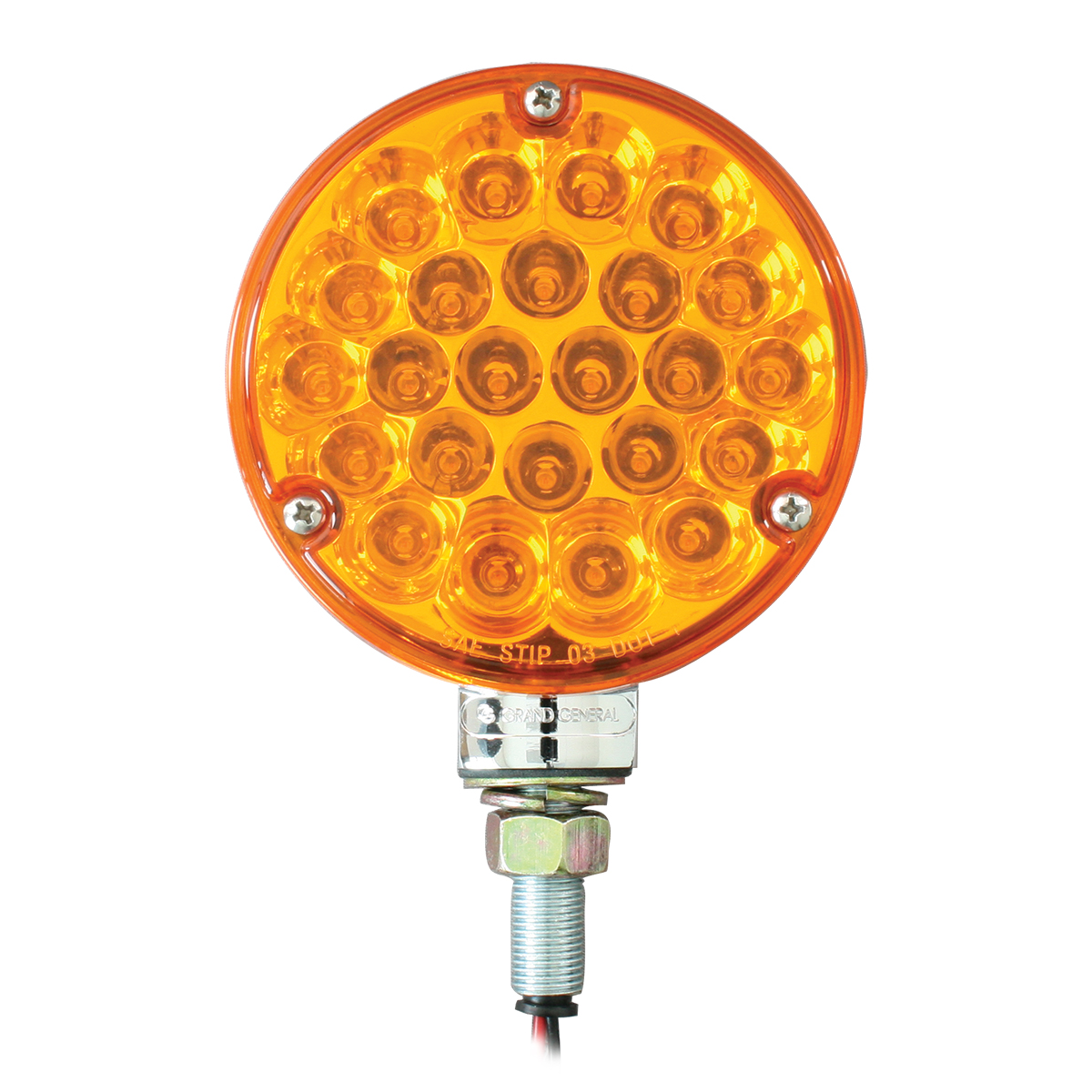 "78350 4"" Single Face Pearl LED Pedestal Light in Amber/Amber"