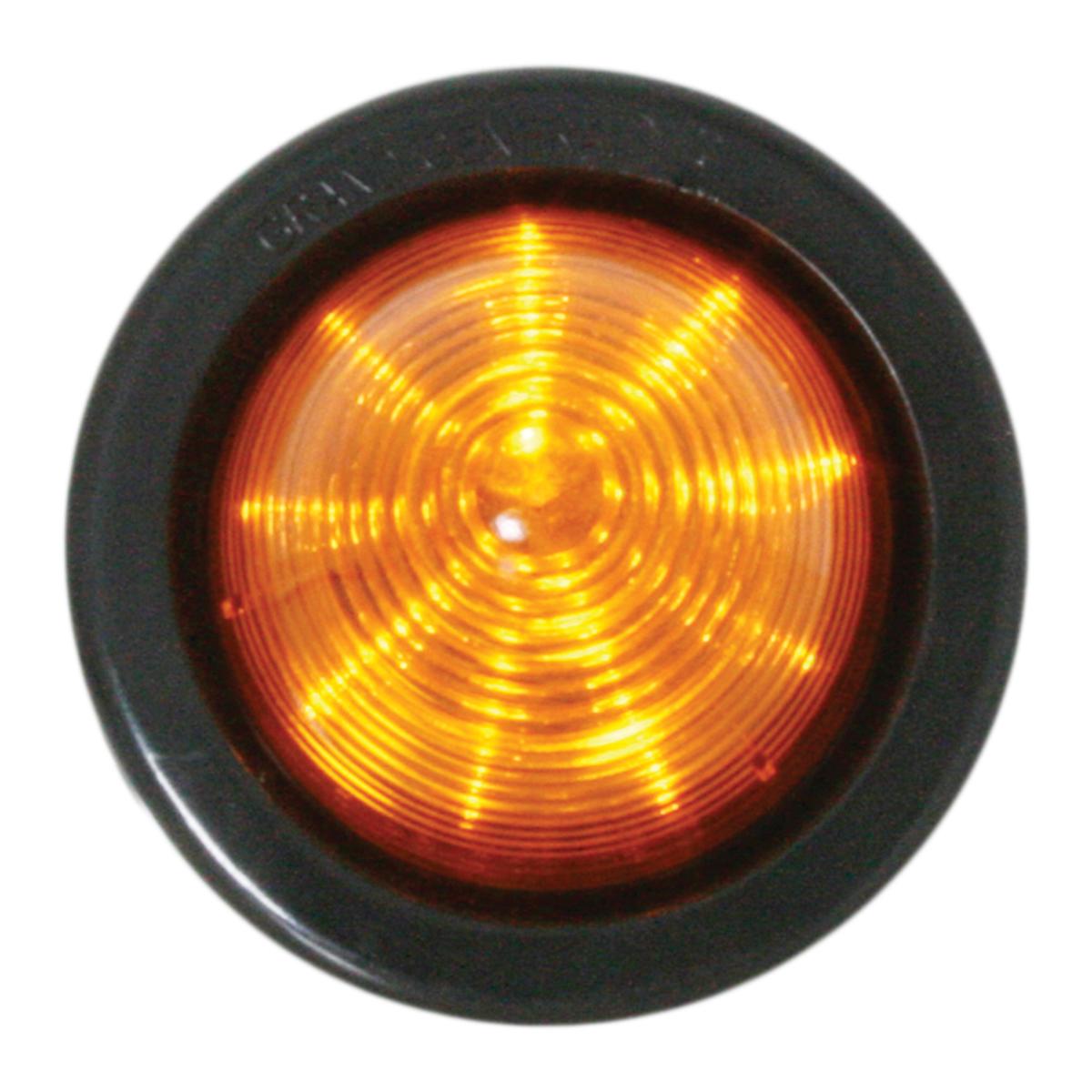 Beehive LED Marker Light with Black Rubber Grommet