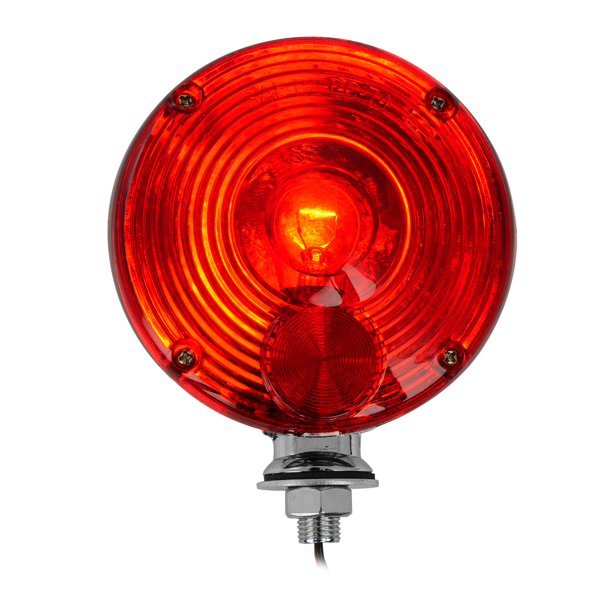 "#80324 4"" Single Face Light Duty Pedestal Red Light"