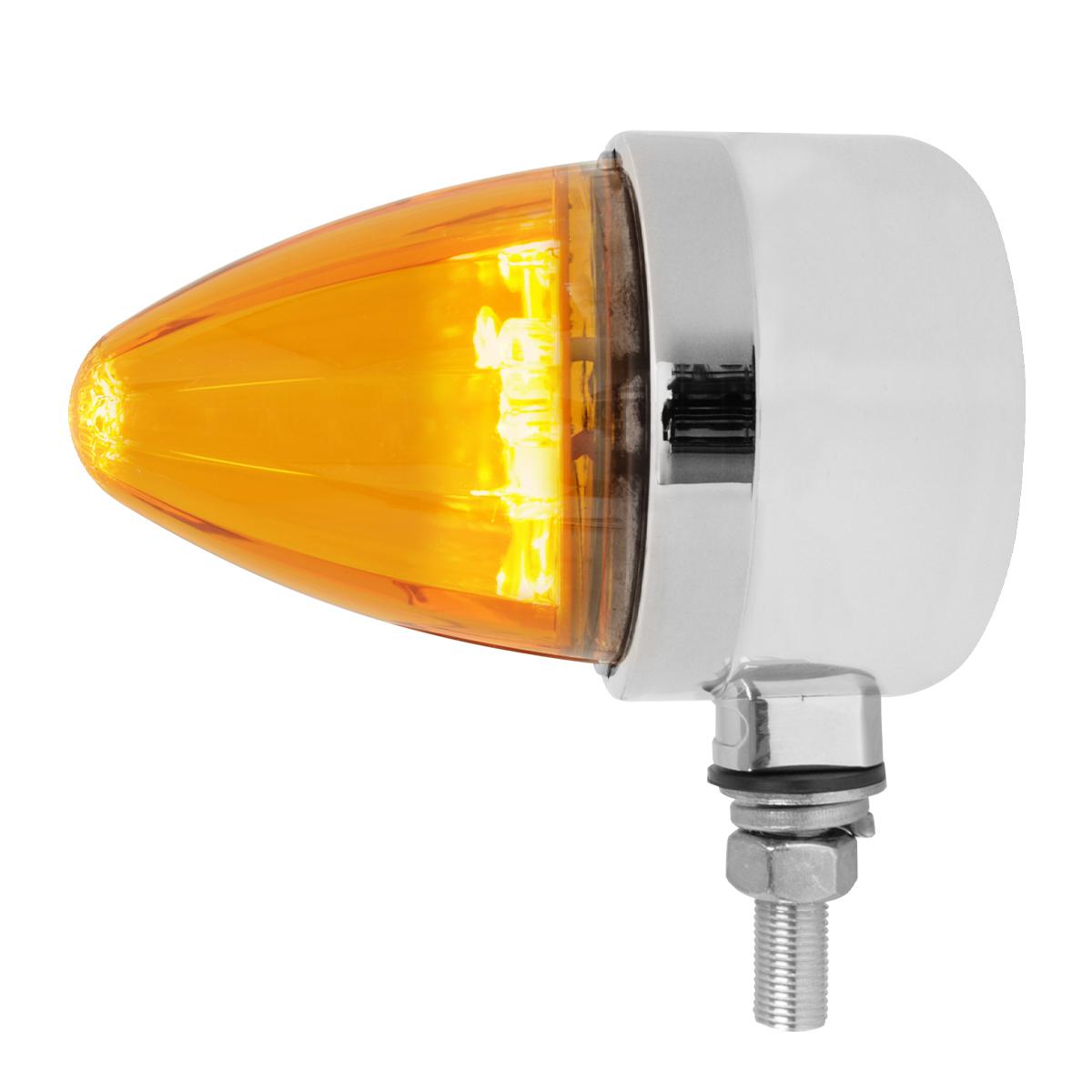 81970 Single Face Watermelon Bullet LED Pedestal Light in Amber/Amber