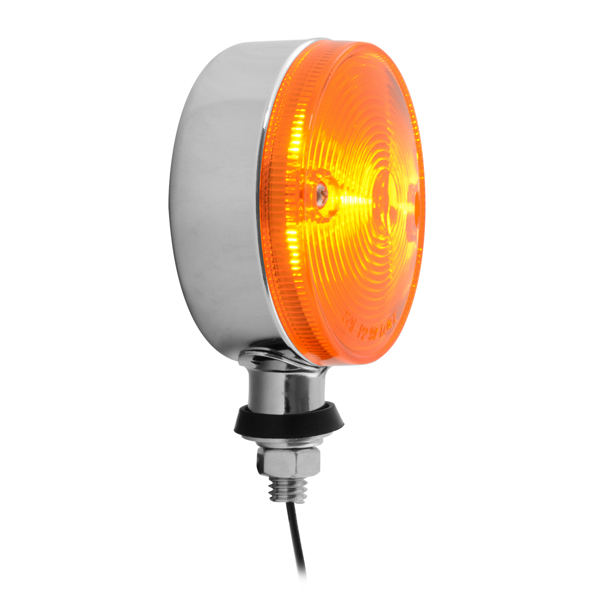 #84340 Single Face Auxiliary Marker Amber Light - Side View