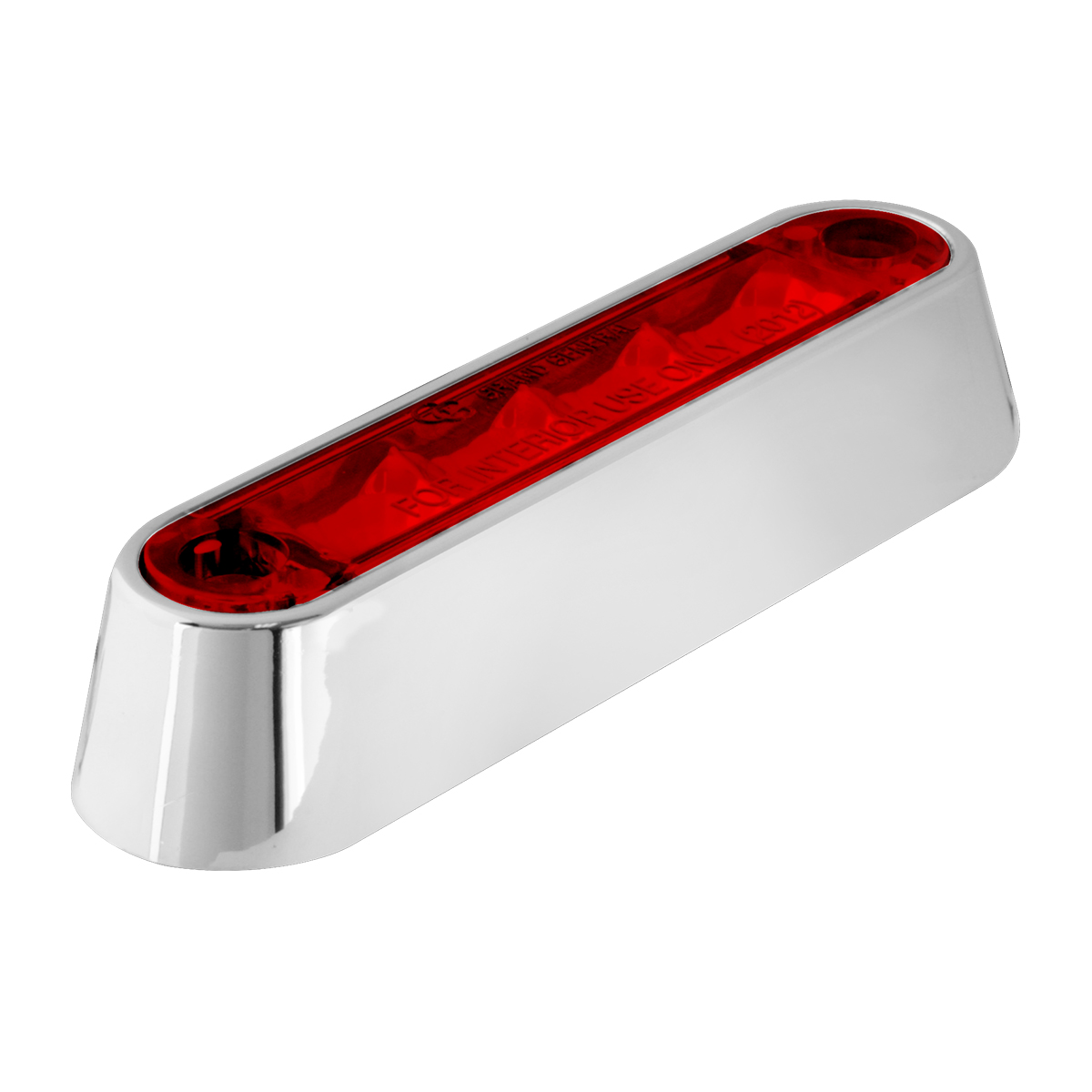 "74802 3.5"" Dual Function LED Light in Red/Red with Chrome Plastic Bezel"
