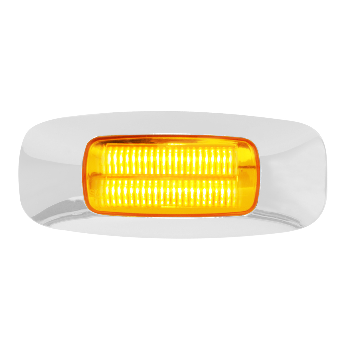 "74821 3.5"" Rectangular Prime LED Marker Light in Amber/Clear"