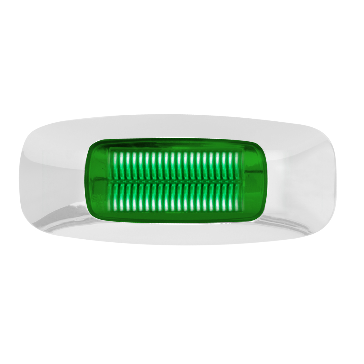 "74826 3.5"" Rectangular Prime LED Marker Light in Green/Green"