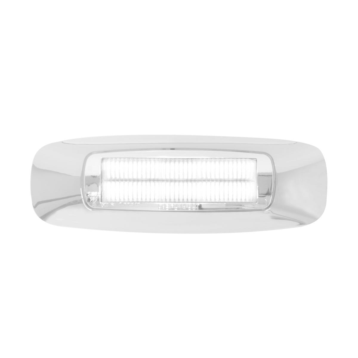 """74834 4-5/8"""" Rectangular Prime LED Marker Light in White/Clear"""