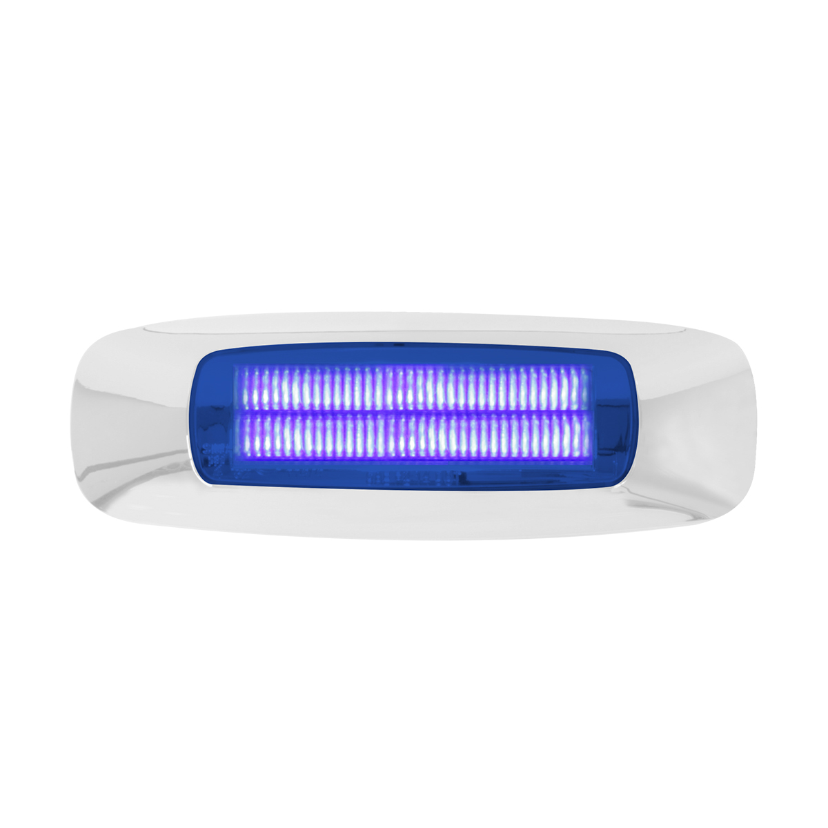 "74835 4-5/8"" Rectangular Prime LED Marker Light in Blue/Blue"
