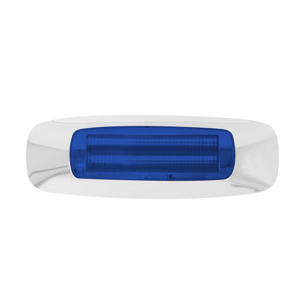 """74835 4-5/8"""" Rectangular Prime LED Marker Light in Blue/Blue"""