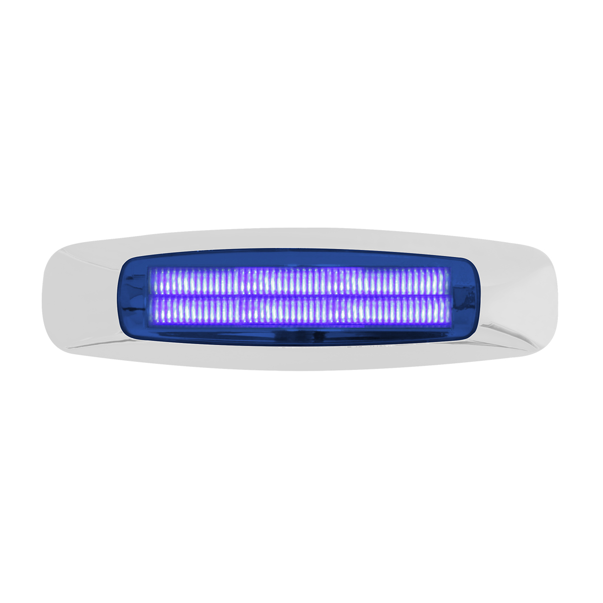 "74845 5-3/4"" Rectangular Prime LED Marker Light in Blue/Blue"
