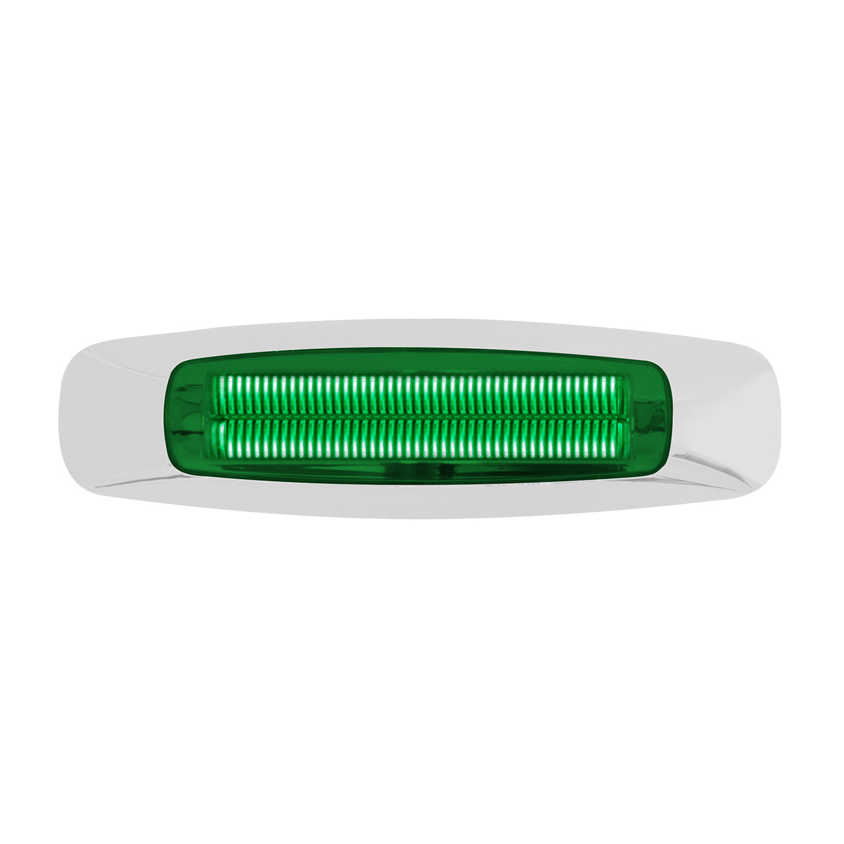 "74846 5-3/4"" Rectangular Prime LED Marker Light in Green/Green"