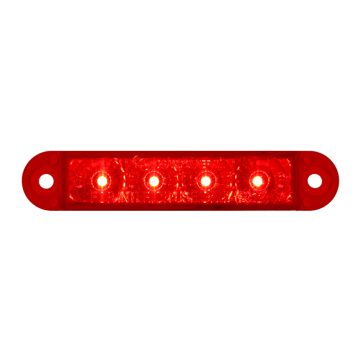 "76072 3.5"" Dual Function LED Light in Red/Red"