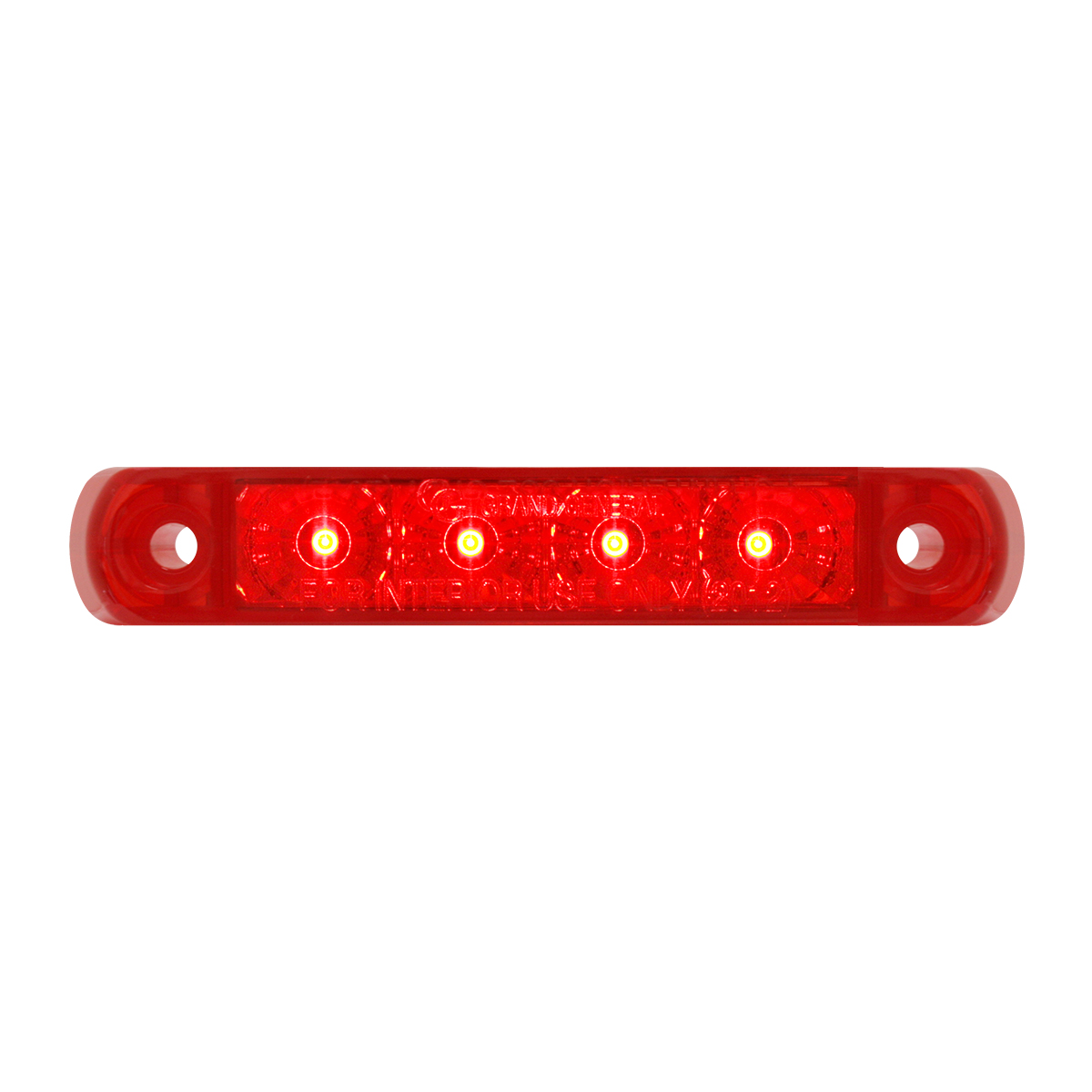 76082 Surface Mount Dual Function LED Light in Red/Red