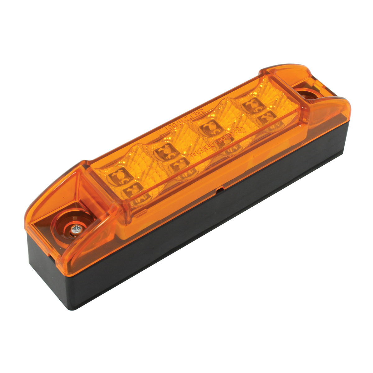 76160 Slim Rectangular Spyder LED Light in Amber/Amber with Riser